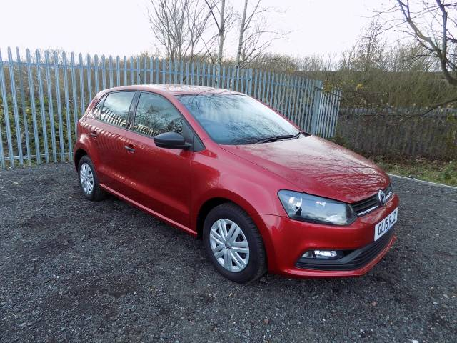 Volkswagen Polo 1.0 S 5dr [AC] Hatchback Petrol Red at Bescol Motors Bishop Auckland