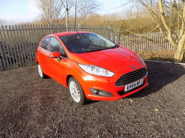 Ford Fiesta 1.0 EcoBoost Titanium 5dr Hatchback Petrol Red at Bescol Motors Bishop Auckland