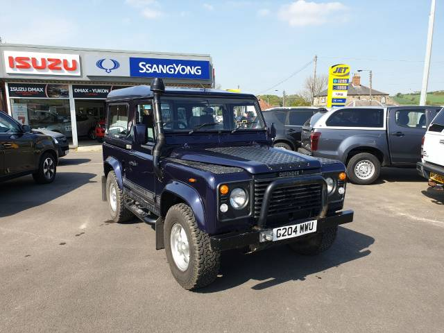 Land Rover Defender 2.5 DEFENDER 90 TD5 Four Wheel Drive Diesel Blue at Bescol Motors Consett