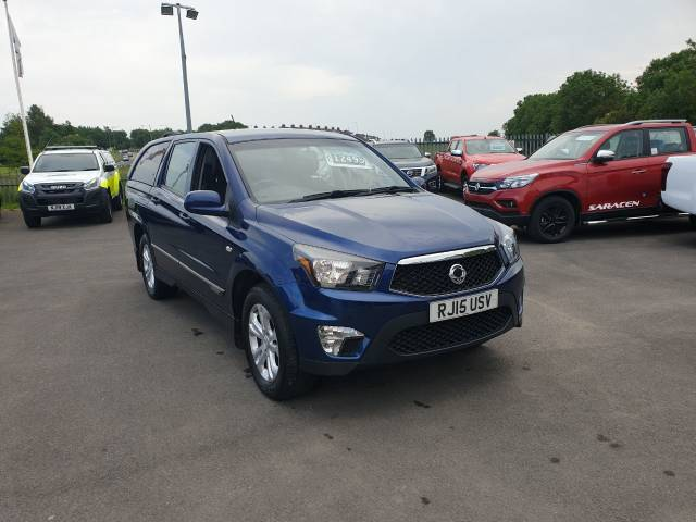 SsangYong Korando Sports 2.0 Pick Up EX 5dr Auto 4WD Pick Up Diesel Blue at Bescol Motors Consett