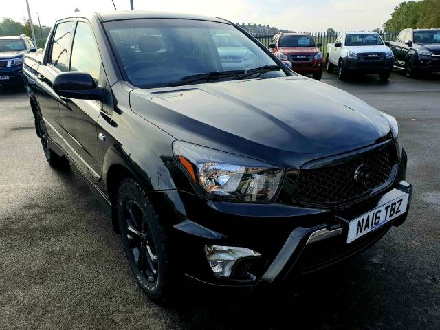 SsangYong Korando Sports 2.0 Pick Up EX 5dr Auto 4WD Pick Up Diesel Black at Bescol Motors Consett